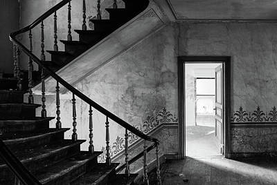 The Haunted House - Abandoned Buildings Bw Print by Dirk Ercken