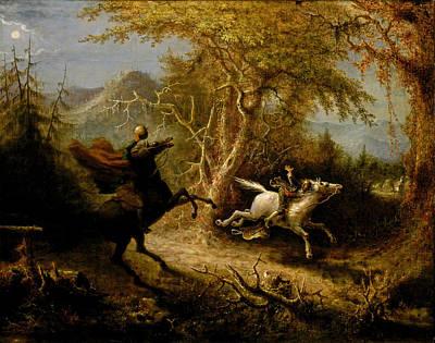 Painting - The Headless Horseman Pursuing Ichabod Crane by John Quidor