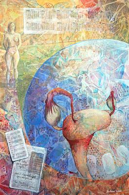 Figures Mixed Media - The Healer Set Me Free by Arlissa Vaughn