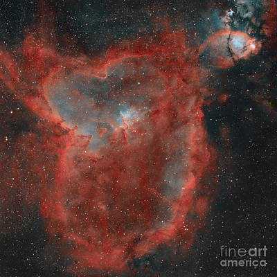 Ic Photograph - The Heart Nebula by Rolf Geissinger