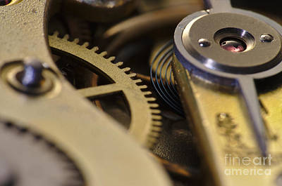 Steampunk Photograph - The Heart Of A Watch 4 by Angelo DeVal