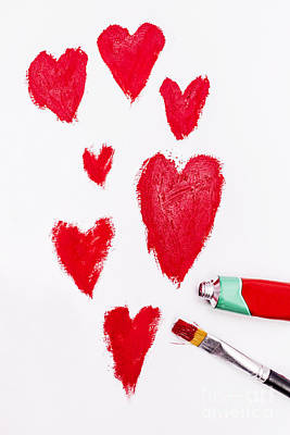 Heart Images Painting - The Heart Of Love by Jorgo Photography - Wall Art Gallery