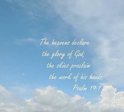 Bible Photograph - The Heavens Declare by Eloise Schneider