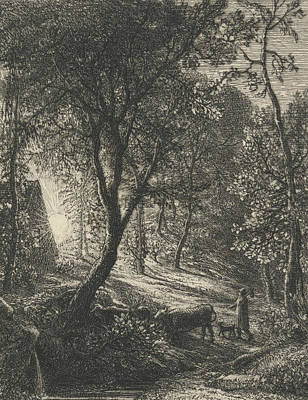 The Herdsman's Cottage Print by Samuel Palmer
