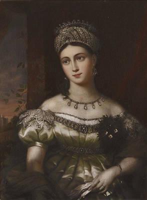 The Hereditary Duchess Of Saxe Gotha Altenburg Print by MotionAge Designs