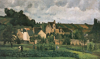 The Hermitage At Pontoise Print by Camille Pissarro