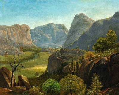 Cowboy Painting - The Hetch Hetchy Valley by Celestial Images