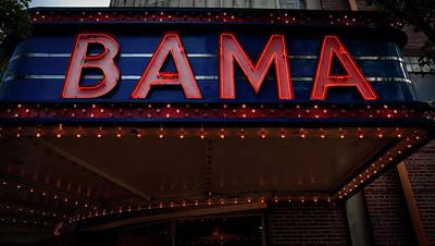 Bama Photograph - The Historic Bama Theatre by Mountain Dreams