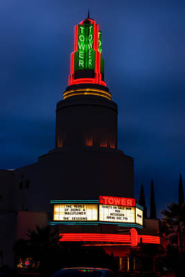 The Historic Tower Theatre Print by Mountain Dreams