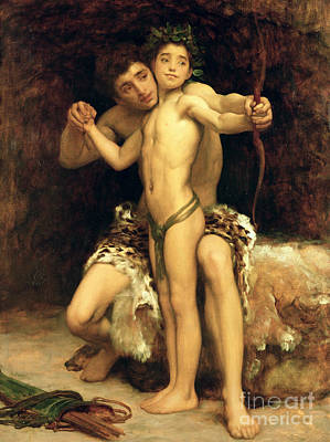 Archer Painting - The Hit by Frederic Leighton