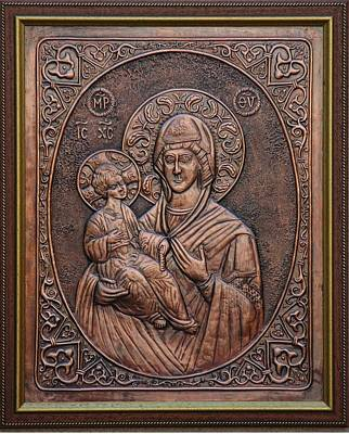 Holly Mother Relief - The Holly Mother With Jesus Christ by Netka Dimoska