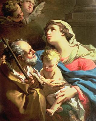Mother Of God Painting - The Holy Family by Gaetano Gandolfi