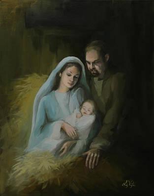The Holy Family Original by Liz Viztes