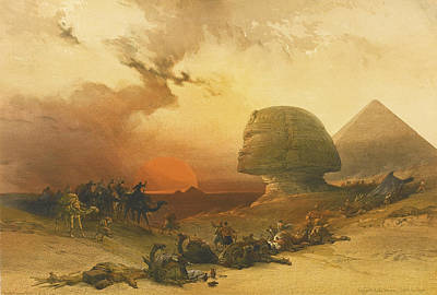 David Roberts Drawing - The Holy Land Syria Idumea Arabia Egypt And Nubia by David Roberts