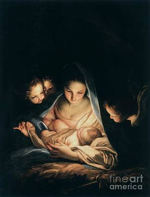 Carlo Maratta Painting - The Holy Night  by MotionAge Designs