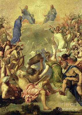 Heavenly Angels Painting - The Holy Trinity by Titian