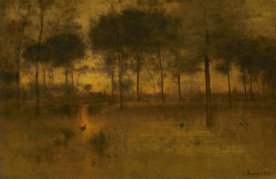 George The Painter Painting - The Home Of The Heron by George Inness