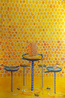 Painting - The Honey Of Lives by Lazaro Hurtado