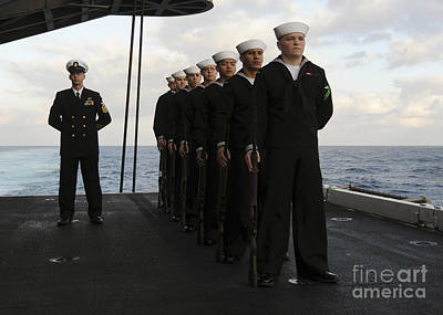 The Honor Guard Stands At Parade Rest Print by Stocktrek Images