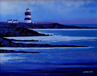 The Hook Lighthouse The Hook Peninsula County Wexford Ireland Print by John  Nolan