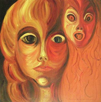 Mental Painting - The Horror Of Living by Suzanne  Marie Leclair