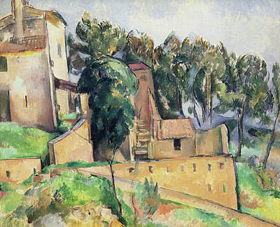 The House At Bellevue Print by Paul Cezanne