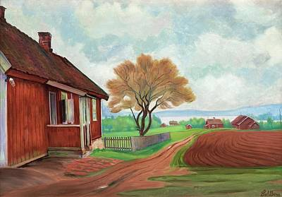 Harald Painting - The House At Maridalen by Harald Sohlberg