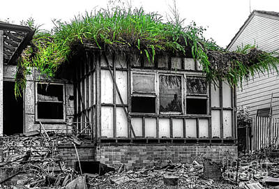 Abandoned House Photograph - The House Of The Triffids By Kaye Menner by Kaye Menner
