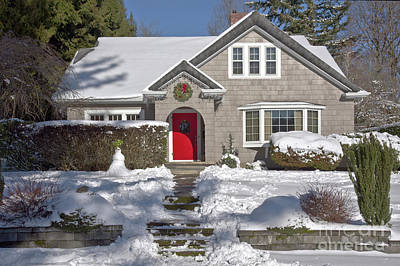 Northwest Library Photograph - The House With A Red Door Oregon. by Gino Rigucci