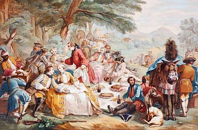 The Hunt Luncheon, After A Work By Print by Vintage Design Pics