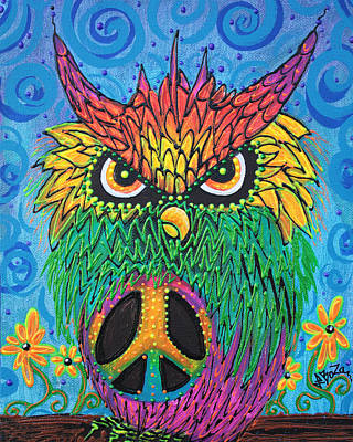 Owl Painting - The Hush Owl by Laura Barbosa