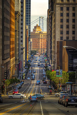 Downtown Area Photograph - The Hustle by Steve Baranek