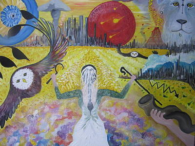 Bride Painting - The Harvest At The End Of The Age by Rachael Pragnell