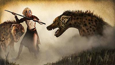 Apocalyptic Digital Art - The Hyaenodons - Allie's Battle by Mandem