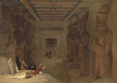 David Roberts Painting - The Hypostyle Hall Of The Great Temple At Abu Simbel Egypt by David Roberts