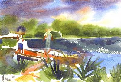 A Summer Evening Painting - The Ideal Catch by Kip DeVore