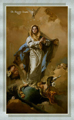 Immaculate Painting - The Immaculate Conception by MotionAge Designs