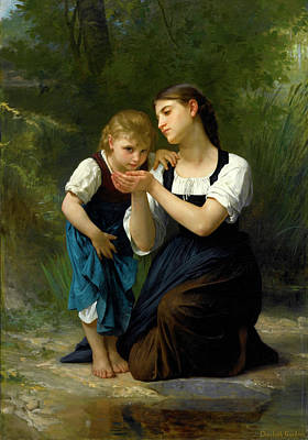 Elizabeth Jane Gardner Painting - The Improvised Cup by Elizabeth Jane Gardner Bouguereau