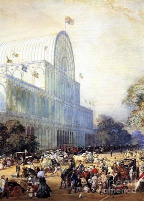 Inauguration Painting - The Inauguration Of Crystal Palace by Eugene Louis