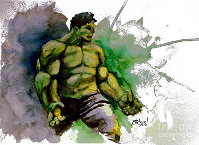 The Avengers Painting - The Incredible Hulk by Rob Spitz