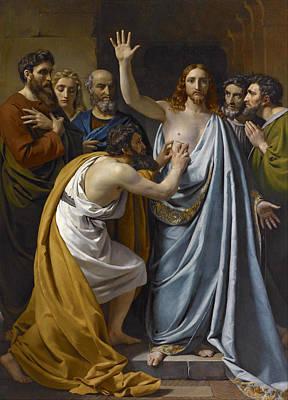 Incredulity Painting - The Incredulity Of Saint Thomas by Francois-Joseph Navez