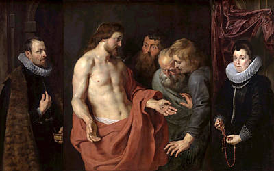 Incredulity Painting - The Incredulity Of St Thomas by Peter Paul Rubens