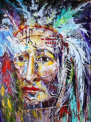 Dreamcatcher Painting - The Indian Chief by Nicole Slater