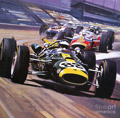 Turn Painting - The Indianapolis 500 by Wilf Hardy