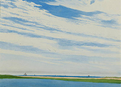 Drawing - The Inlet by Henry Farrer