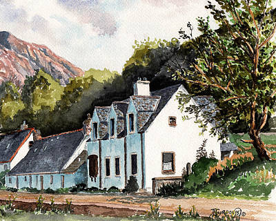 Heather Painting - The Inn Scotland by Timithy L Gordon