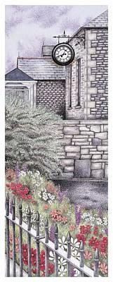 The Institute Clock   Caton  Lancashire Print by Sandra Moore