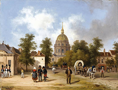 Painting - The Invalides. Paris by Giuseppe Canella