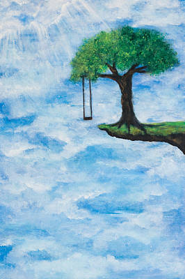 Swing Painting - The Invitation by Jill Wyckoff