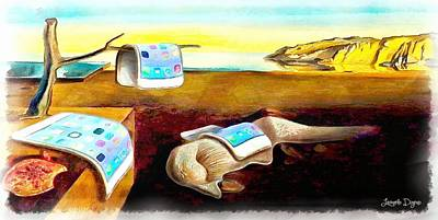Communication Painting - The Iphone Surrealism by Leonardo Digenio
